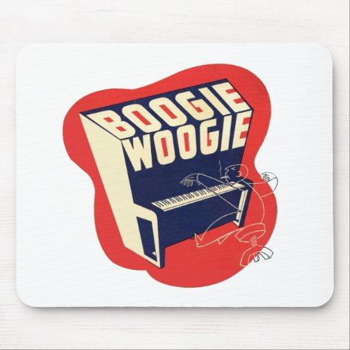 Jazz retro de Woogie de la boogie del vintage clás Tapete De Raton