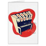Jazz retro de Woogie de la boogie del vintage clás Tarjetón