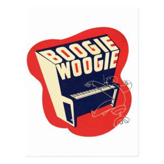 Jazz retro de Woogie de la boogie del vintage Tarjetas Postales