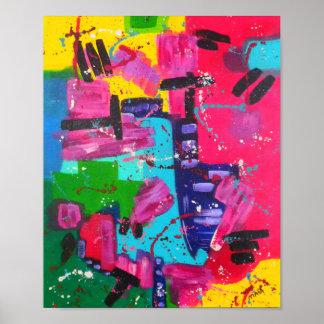 Jazz Riff Abstract Art Mini Poster