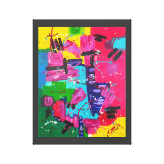 Jazz Riff Abstract Art Wrapped Canvas Print