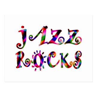 Jazz Rocks Postcard