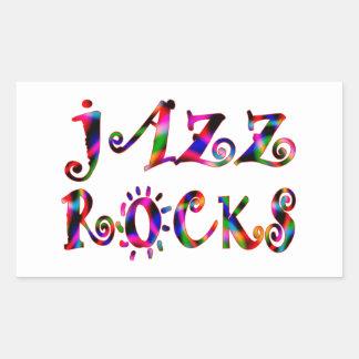 Jazz Rocks Rectangular Sticker