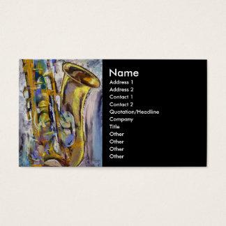Jazz Sax Business Card