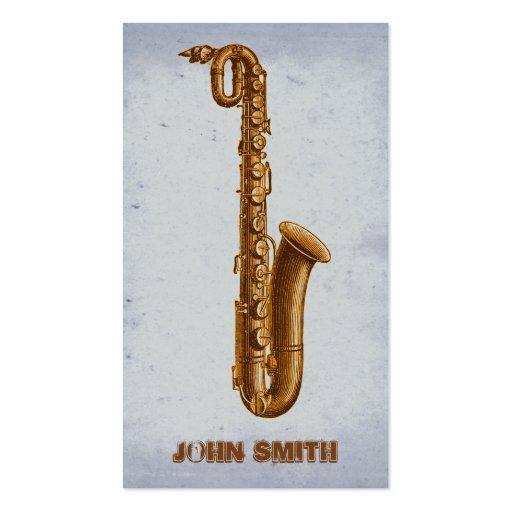 Jazz Sax Music Business Branding Business Card