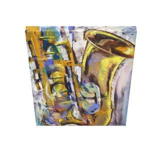 Jazz Sax Painting Canvas Print