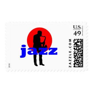 Jazz Sax Player Postage