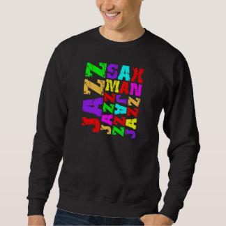 Jazz sax player sweatshirt