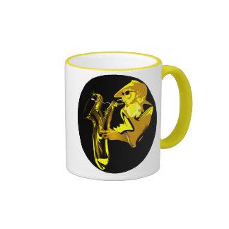 Jazz Sax Ringer Ceramic Mug