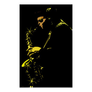 Jazz sax to performer poster