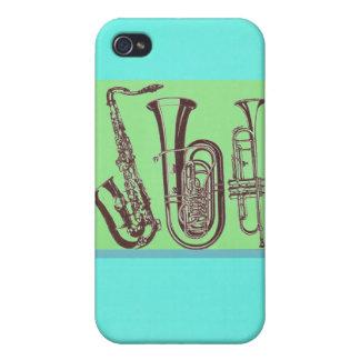 Jazz_Sax_Tuba_Trumpet iPhone 4 Cover