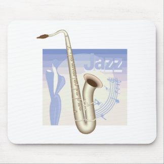 jazz saxaphone design mouse pad