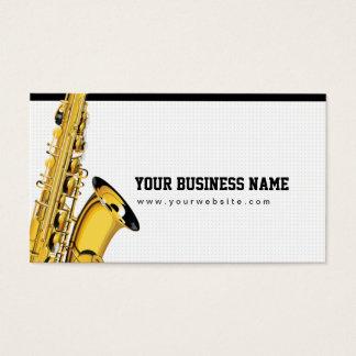 Jazz Saxaphone Soul Music Musician Business Card