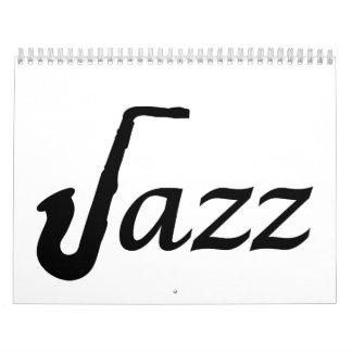 Jazz Saxophone Calendar