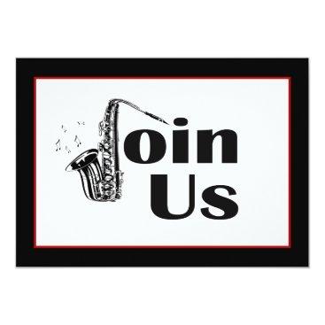 EnchantedBayou Jazz Saxophone Join Us Party Invitation
