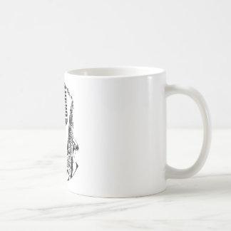 Jazz ~ Saxophone Sax Microphone Music Classic White Coffee Mug