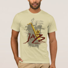 Jazz Saxophone T-shirt at Zazzle