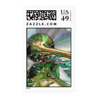 Jazz Shine Postage Stamps
