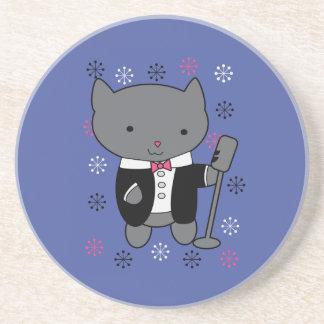 Jazz Singer Cat Drink Coaster