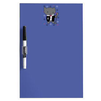 Jazz Singer Cat Dry-Erase Whiteboards