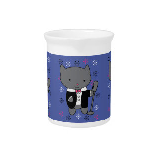 Jazz Singer Cat Drink Pitchers