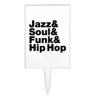 Jazz & Soul & Funk & Hip Hop Cake Topper
