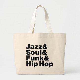 Jazz & Soul & Funk & Hip Hop Large Tote Bag