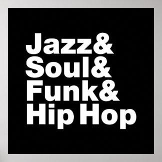 Jazz & Soul & Funk & Hip Hop Poster