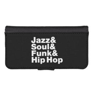 Jazz & Soul & Funk & Hip Hop Wallet Phone Case For iPhone SE/5/5s