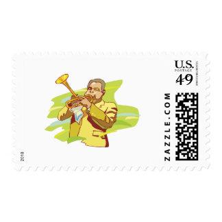jazz soul performer postage stamp