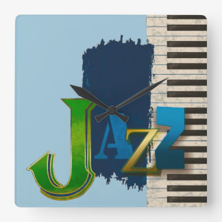 Jazz Square Wall Clock