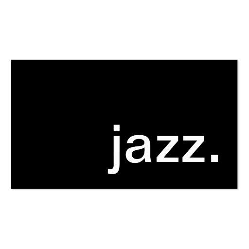 jazz tarjetas de visita