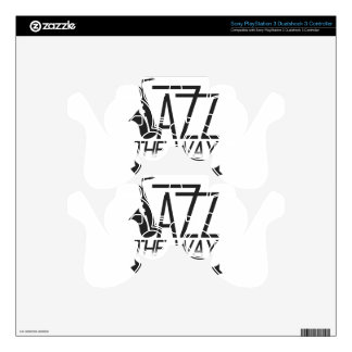 jazz the way you are (black) PS3 controller skin
