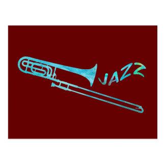 Jazz Trombone Postcard