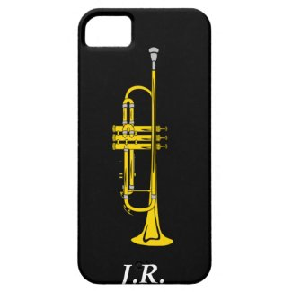 Jazz Trumpet add your Initials case-mate Iphone4 Iphone 5 Cover