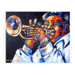 jazz trumpet post card