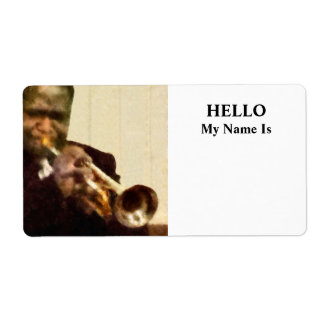 Jazz Trumpeter Custom Shipping Labels