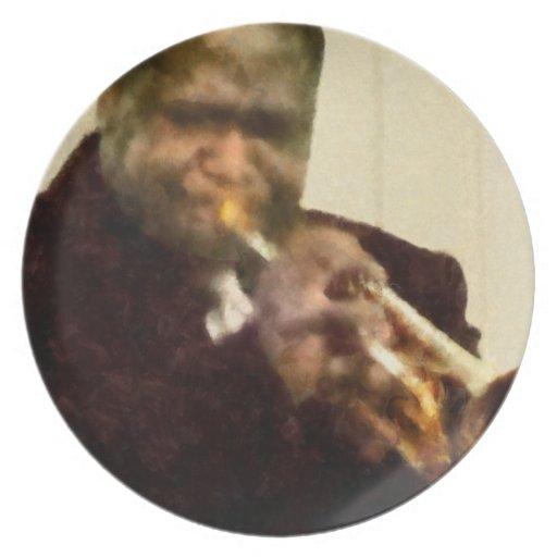 Jazz Trumpeter Plate