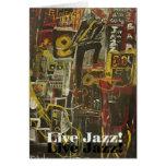 jazz vivo tarjeta de felicitación