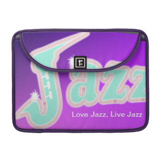 Jazz with Saxophone Sleeve For MacBook Pro