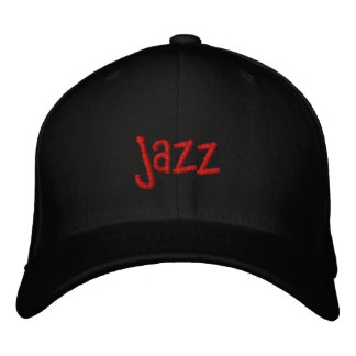 Jazz Word on Black Baseball Hat