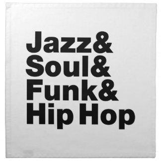 Jazz y alma y miedo y Hip Hop Servilletas De Papel