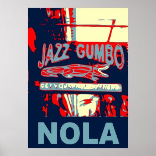 Jazz y Gumbo de NOLA Posters