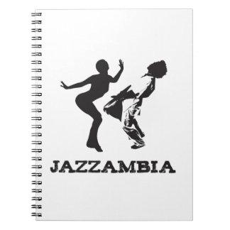 JAZZAMBIA Spiral Notebook