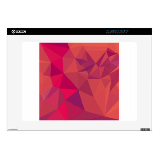 Jazzberry Jam Red Abstract Low Polygon Background Skins For Laptops