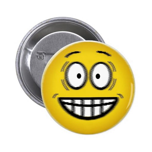 Jazzed Smiley Face Button