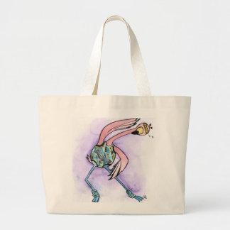 Jazzercise Flamingo Large Tote Bag