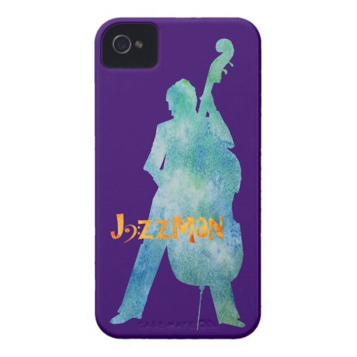 Jazzman que juega bajo Case-Mate iPhone 4 protectores