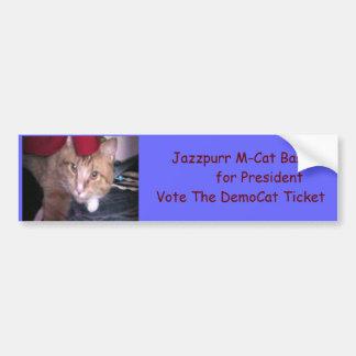 Jazzpurr DemoCat For Pres Bumper Sticker