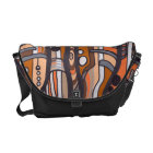 Jazzy Abstract Earthtones Messenger Bag
